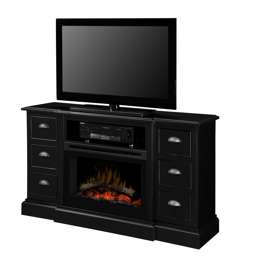 Shop Dimplex 55 In W 3 000 Btu Black Wood Wall Mount Electric Fireplace With Thermostat And