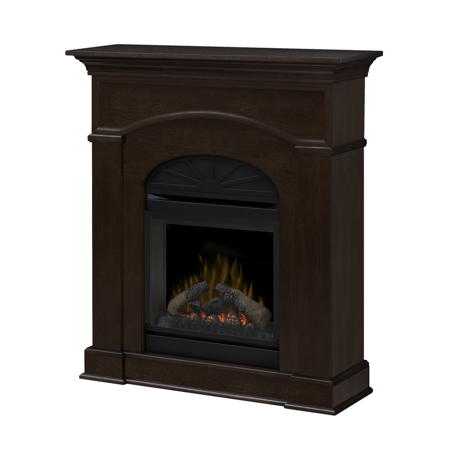Shop Dimplex W 5 120 Btu Mocha On Ash Wood Wall Mount Electric Fireplace With