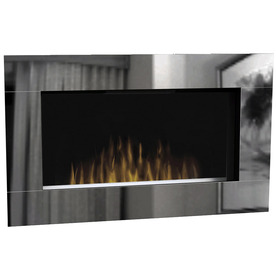 Shop Dimplex 40 In W Mirror Metal Wall Mount Electric Fireplace With Remote Control At