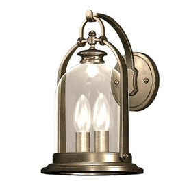allen + roth North Haven 12-in H Bronze Outdoor Wall Light