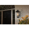 allen + roth Parsons Field 22-in H Black Outdoor Wall Light