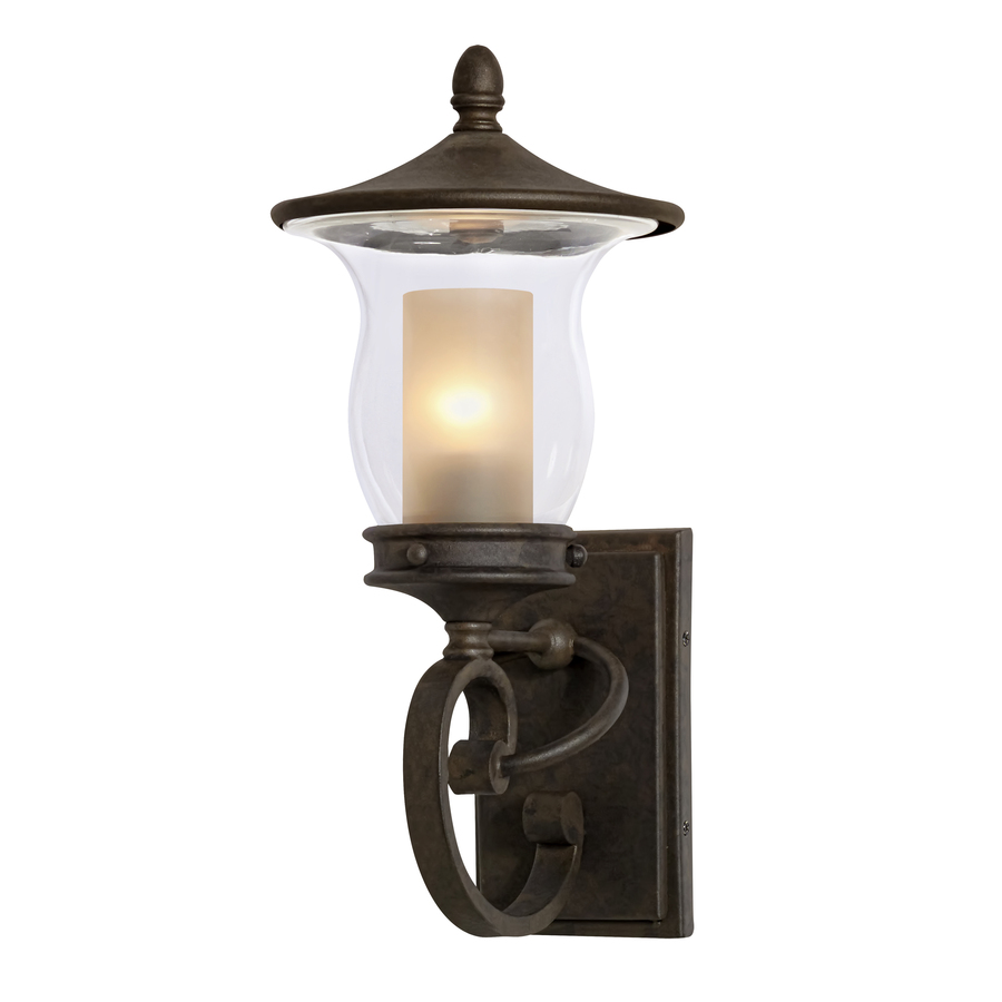 shop allen roth kensett h bronze outdoor wall light at. Black Bedroom Furniture Sets. Home Design Ideas