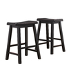 Home Sonata Black 24-in Counter Stool