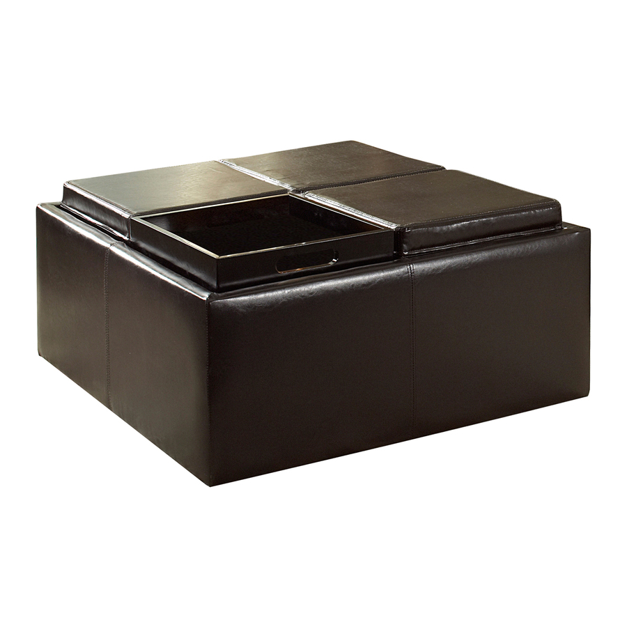 shop home sonata brown square storage ottoman at lowes