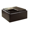 Home Sonata Dark Brown Square Ottoman