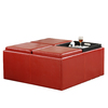 Home Sonata Red Square Ottoman