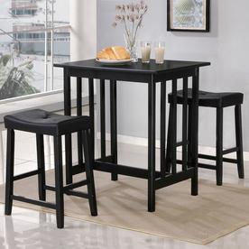 Shop Home Sonata Black 3 Piece Dining Set At