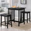 Home Sonata Black 3-Piece Dining Set