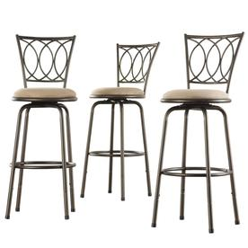 Home Sonata Dark Brown Metal 24-in Adjustable Stool