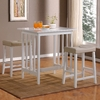 Home Sonata White 3-Piece Dining Set