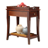 Home Sonata Cherry Asian Hardwood Rectangular End Table