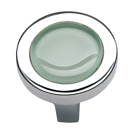Lola & Company 1-1/4-in Green Glass/Polished Chrome Spa Round Cabinet Knob