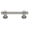 Lola & Company 3-in Brushed Nickel Bronte Rectangular Cabinet Pull