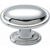 Lola & Company 1-3/8-in Acrylic and Polished Chrome Austen Oval Cabinet Knob