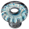 Lola & Company 1-3/8-in Glass and Polished Chrome Glass Ocean Round Cabinet Knob