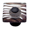 Lola & Company 1-1/2-in Glass and Oil-Rubbed Bronze Glass Zebra Round Cabinet Knob