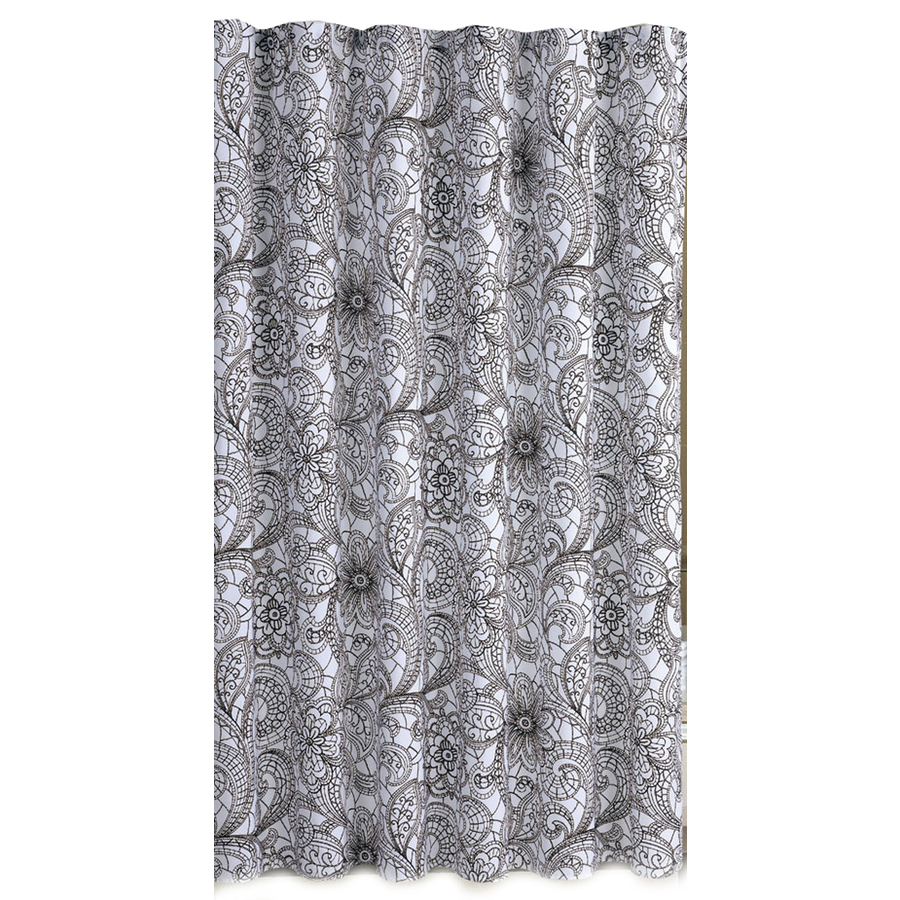 shop metro luxe polyester multicolor toile shower curtain. Black Bedroom Furniture Sets. Home Design Ideas