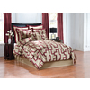 Peninsula Suites Cream and Burgundy King Polyester Comforter