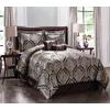 Monroe Brown Queen Polyester Comforter