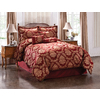 Monroe Burgundy Queen Polyester Comforter
