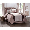Peninsula Suites Cream and Brown King Polyester Comforter