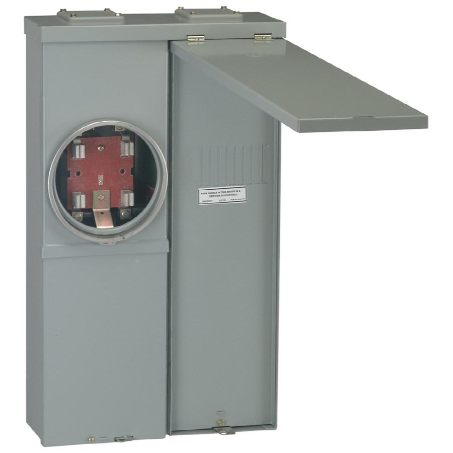 Outdoor Single Phase Meter Socket : Shop ge amp ring type single phase  meter
