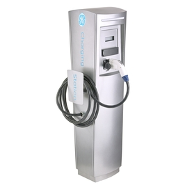 GE Durastation Level 2 30-Amp Freestanding Single Electric Car Charger with RFID