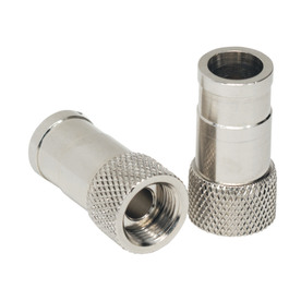 IDEAL 4-Pack Brass Push-On F-Connectors