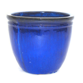 "16""H x 16""W x 16""D Glazed Ceramic Pot"