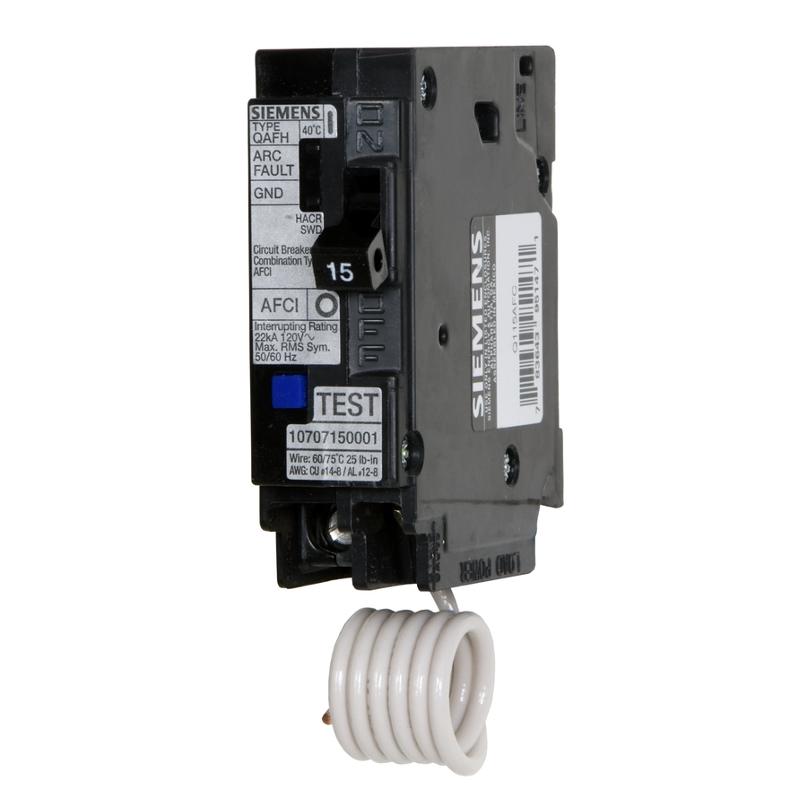 Gfci Circuit Breaker Damaged Block Wiring Diagram Explanation And Afci Electrical Diy Chatroom Home Improvement Forum Shop Siemens Qp 20 Amp Combination Arc Fault At Lowes Com A Icon