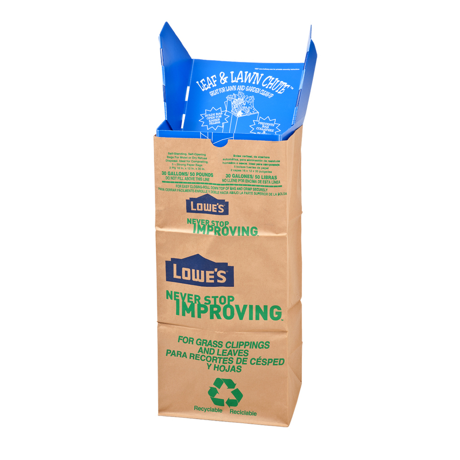 shop leafeasy 30 gallon indoor outdoor trash bags at lowes