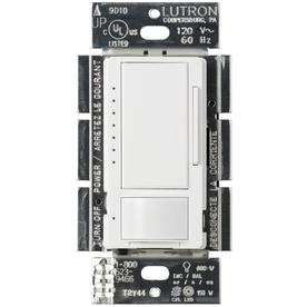 Lutron Maestro 1.25-Amp 150-Watt White 3-Way CFL/LED Digital Dimmer