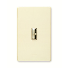 Lutron Toggler 1-Switch 600-Watt Single Pole Almond Indoor Toggle Dimmer