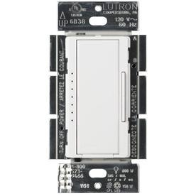 Lutron Maestro 1-Switch 150-Watt 3-Way 4-Way Double Pole White Indoor Tap Dimmer