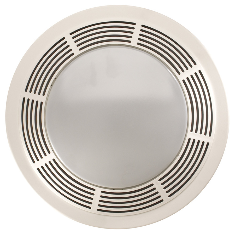 Shop nutone 3 5 sone 100 cfm polymeric white bathroom fan for Bathroom ceiling fans