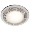 NuTone 3.5-Sone 100-CFM Polymeric White Bathroom Fan with Light