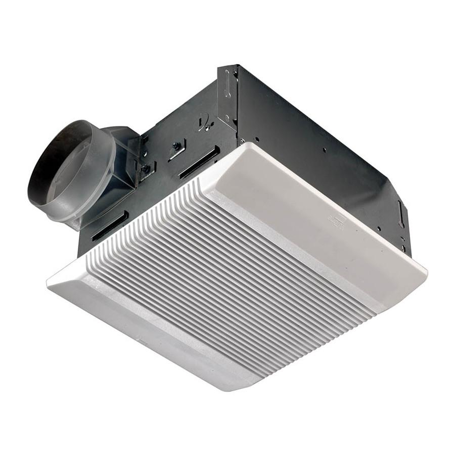 Shop nutone 3 5 sone 110 cfm polymeric white bathroom fan for Nutone bathroom exhaust fan installation