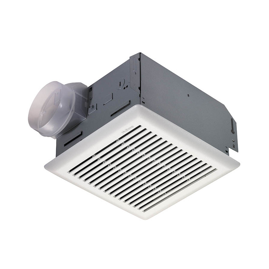 Shop nutone 3 sone 90 cfm polymeric white bathroom fan at for Bathroom exhaust fan lowes