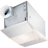NuTone 4-Sone 70 CFM Polymeric White Bathroom Fan with Heater and Light