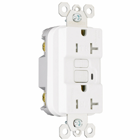 Pass & Seymour/Legrand 3-Pack 20-Amp 125-Volt White GFCI Decorator Outlet