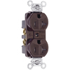 Legrand 20-Amp 125-Volt Brown Indoor Duplex Wall Outlet