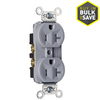 Pass & Seymour/Legrand 20-Amp Gray Duplex Electrical Outlet