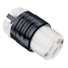 Legrand 15-Amp 125-Volt Black, Yellow and White 3-Wire Grounding Plug