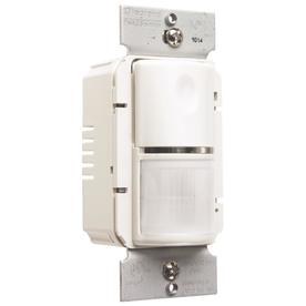 Shop legrand 1 switch 800 watt single pole white indoor motion vacancy sensor at for Interior motion sensor light switches