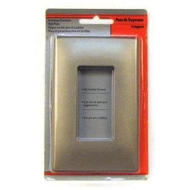 Pass & Seymour/Legrand 1-Gang Nickel Decorator Thermoplastic Wall Plate