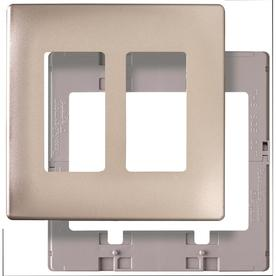 Pass & Seymour/Legrand 2-Gang Nickel Decorator Thermoplastic Wall Plate