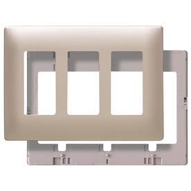 Pass & Seymour/Legrand 3-Gang Nickel Decorator Thermoplastic Wall Plate