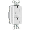 Pass & Seymour/Legrand 125-Volt 15-Amp White Decorator GFCI Electrical Outlet