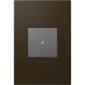 Legrand Adorne 1-Gang Bronze Square Plastic Wall Plate
