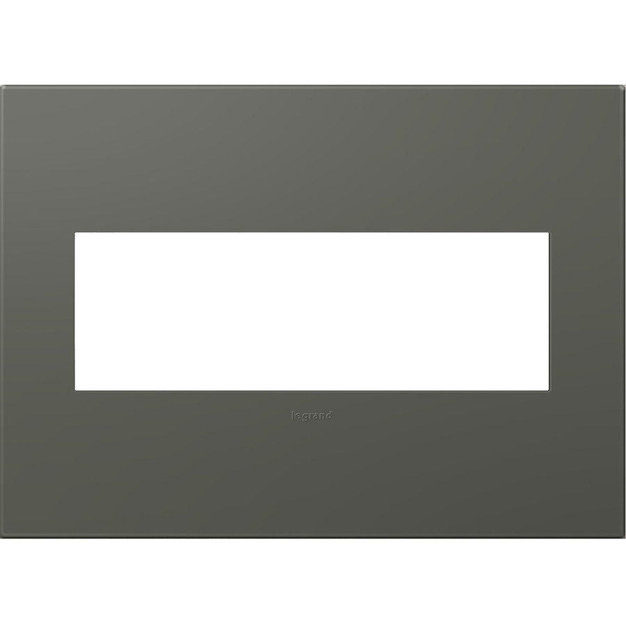 Shop Legrand Adorne 3-Gang Graphite Triple Square Wall Plate at